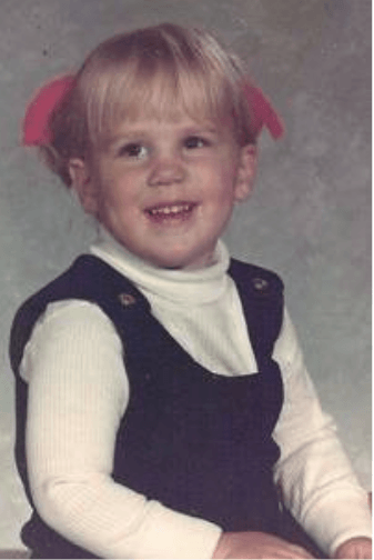 Toddler Becky in the 70's